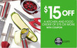 HSN - $15 Off $75+ Kitchen & Food Order