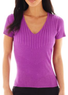 Worthington Women's Ribbed V-Neck Sweater