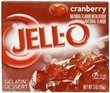 Jell-O Gelatin Dessert, Cranberry, 3-Ounce Boxes (Pack of 6)