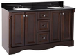 St. Paul Valencia 61 Vanity w/ Color Point Vanity Top