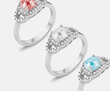 Swarovski Elements Women's Birthstone Rings