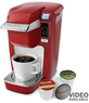 Keurig K10 Mini Plus Coffee Brewer w/ 6-Pack K-Cups Pack