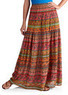 Women's Printed Krinkle Boho Skirt