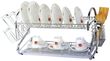 22 or 26 2-Tier Chrome Dish Rack
