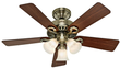 Hunter 44 Antique Brass Ceiling Fan