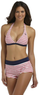 U.S. Polo Assn. Women's Bikini Top & Boy Short Bottoms