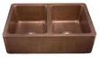 Ecosinks 33 Double Bowl Farmhouse Kitchen Sink