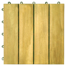 Vifah 4-Slat Acacia Interlocking Deck Tiles 10-Pack