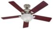 Hunter Brookline 52 Brushed Nickel Ceiling Fan