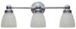 World Imports 3-Light Chrome Bath Bar